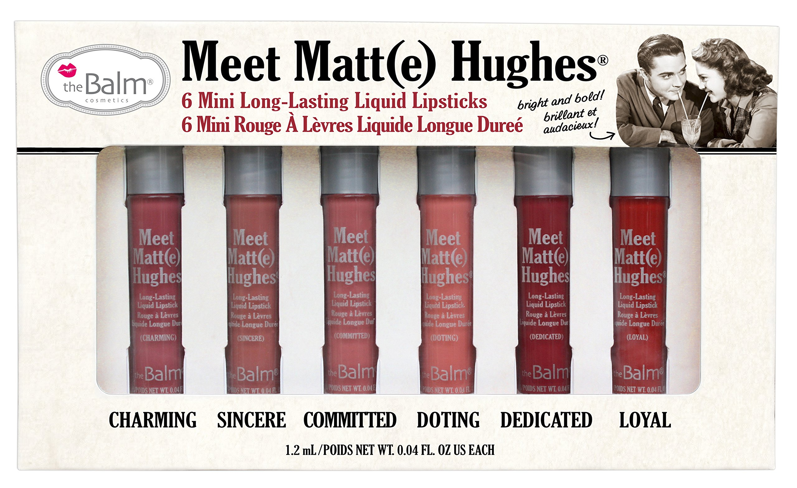 theBalm Meet Matt(e) Hughes Set of 6 Mini Long-Lasting Liquid Lipsticks by theBalm