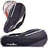 Athletico - Bolsa de tenis para 3 raquetas, acolchada para proteger las raquetas y ligeras, profesionales o principiantes, di