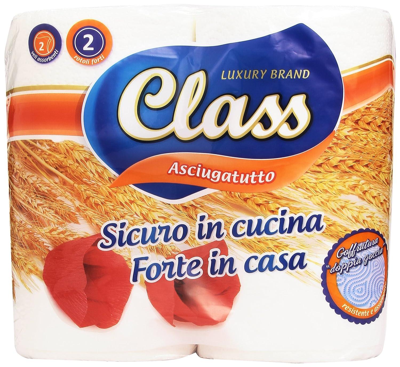 Class - Asciugatutto, Sicuro in Cucina, 2 Rotoli