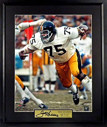 1911371903b Amazon.com  Pittsburgh Steelers Mean Joe Greene 16x20 Photograph (SGA  Signature Engraved Plate Series) Framed  Sports Collectibles