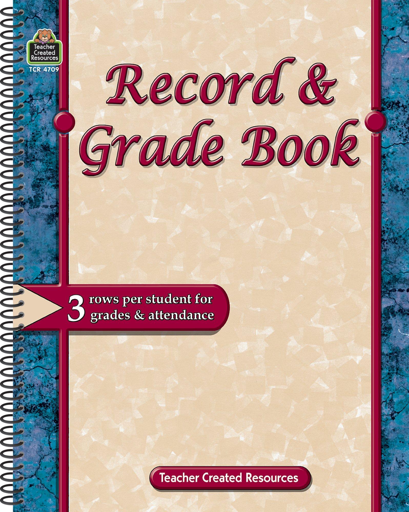 record grade book teacher created resources staff 9781420647099