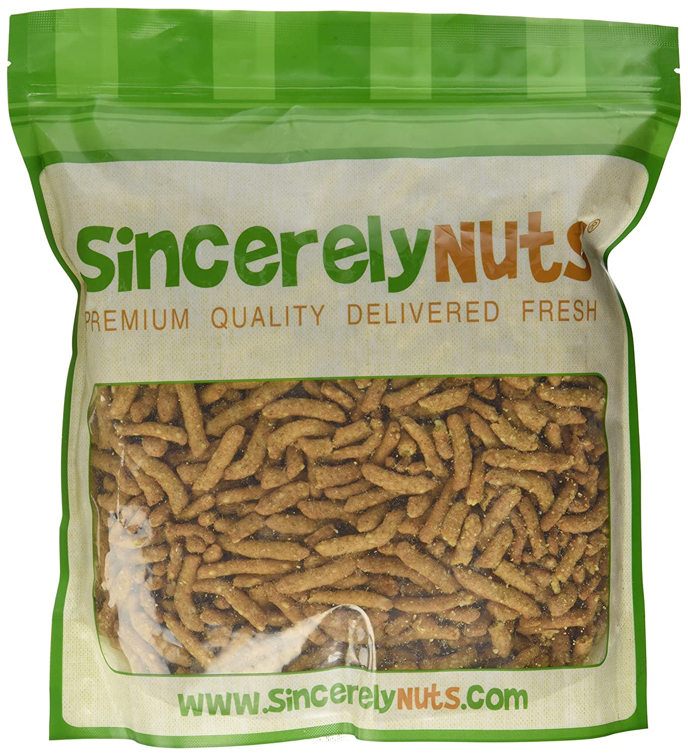 Sincerely Nuts Sesame Sticks   Two Lb. Bag   Fiber Rich   Appetizing Golden Color   Delicious & Insanely Fresh – Ok Kosher Certified! by Sincerely Nuts