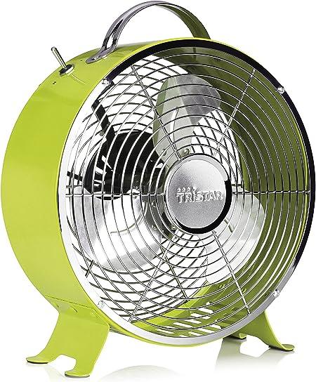 Ventilador de mesa retro Tristar VE-5965 – 25 centímetros – Verde: Amazon.es: Bricolaje y herramientas