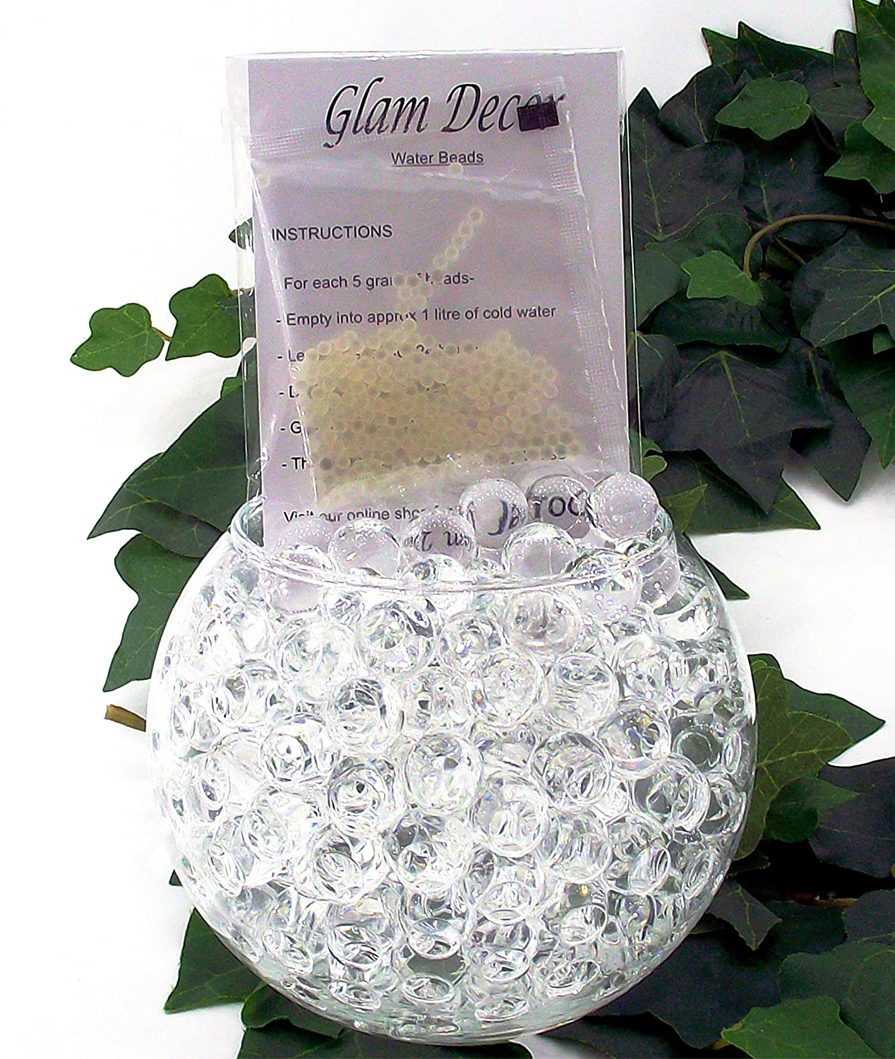 10 Packs Clear Glam Decor Water Beads® Gel Balls Bio Crystal Soil ...