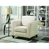 Coaster Park Place Casual Cream Upholstered Chair with Flair Tapered Arm