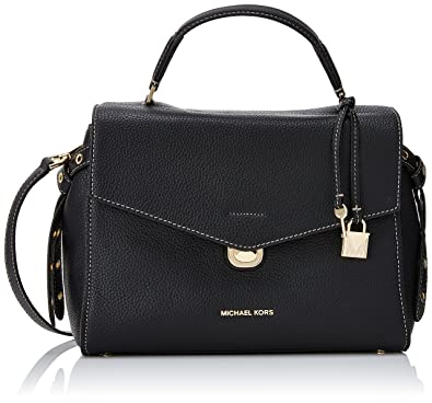 54911534f30517 Michael Kors Womens Lenox Satchel Black (Black): Handbags: Amazon.com