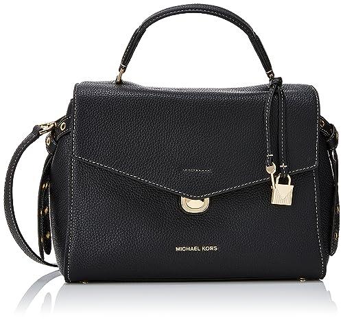 19e627f90602 Michael Kors Womens Lenox Satchel Black (Black)  Amazon.co.uk  Shoes ...