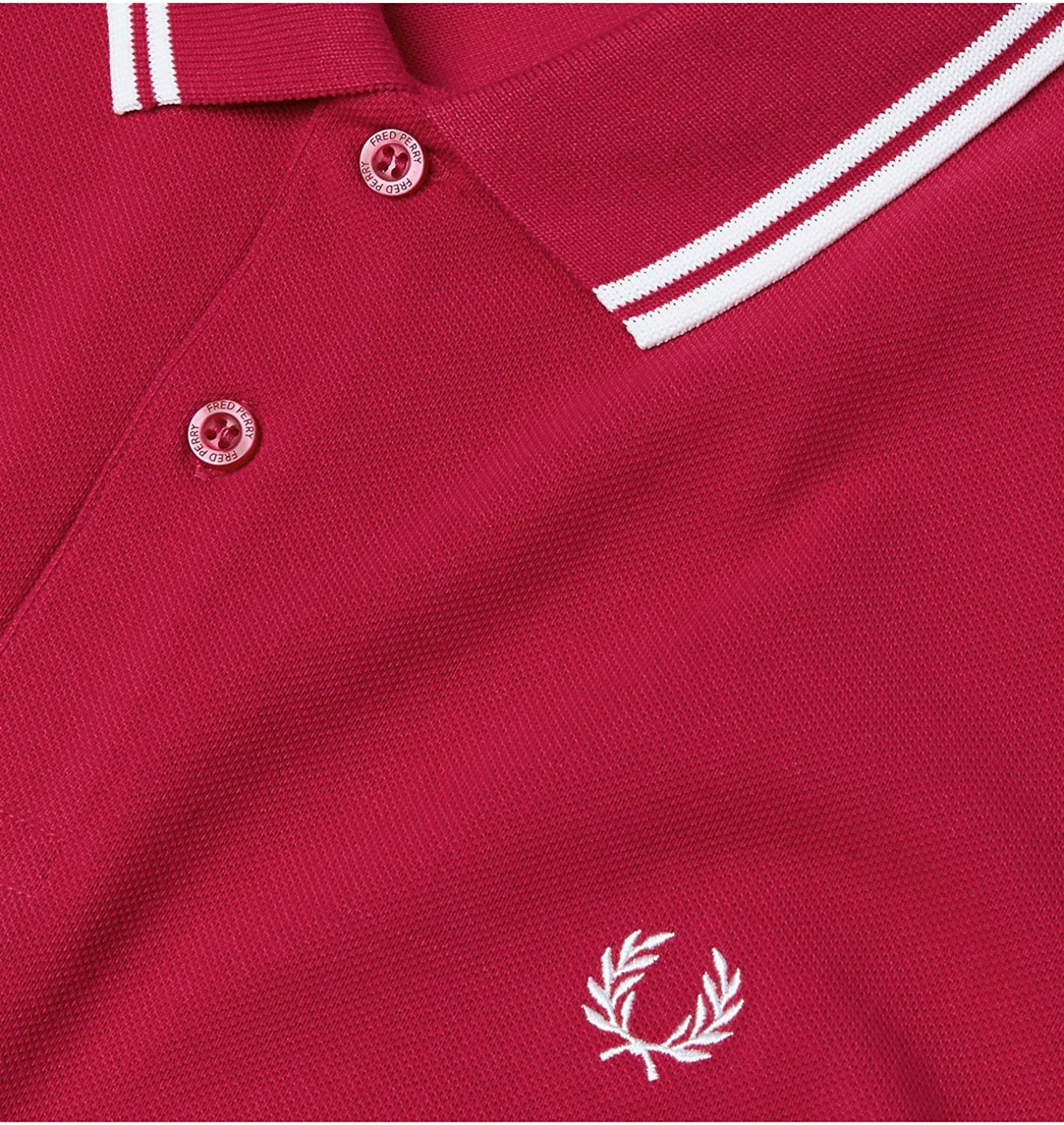 Fred Perry Men's Twin Tipped Polo Shirt Terracotta/Porcelain