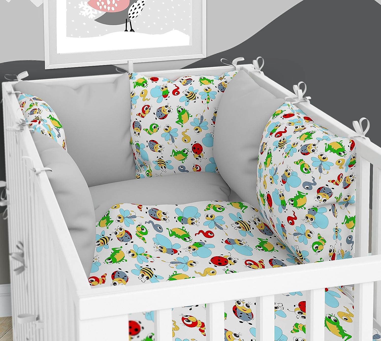 Kissen-Nestchen - Sechs Kissen samt Bezü gen fü r das Babybett 60 x 120 cm KLARA BRIST