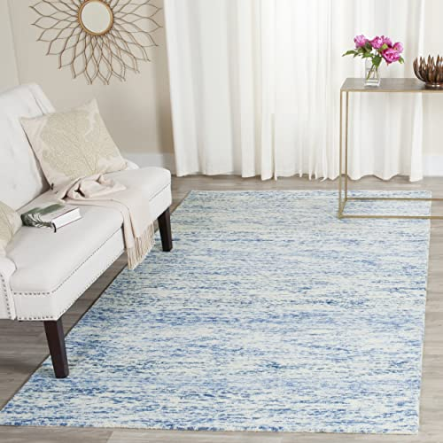 Safavieh Himalaya Collection HIM120A Handmade Blue Premium Wool Area Rug 2 x 3