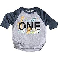Wild One Boys 1st Birthday Safari Animal Themed T-Shirts and Raglans for Baby Boys