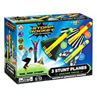 The Original Stomp Rocket Stunt Planes - 3 Foam Plane Toys for Boys and Girls -...