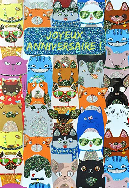 afie 69 - 4019 tarjeta feliz cumpleaños purpurina diseño de ...