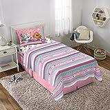 Nickelodeon Paw Patrol Kids Bedding Soft Microfiber Sheet Set Twin Size 3 Piece Pack Pink/White Girls Design