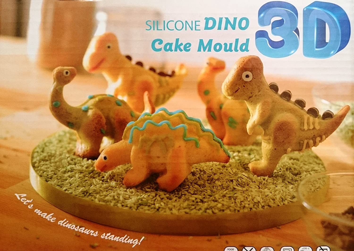 Amazoncom Silicone 3D Dino Dinosaur Cake Mould for Chocolate Jelly
