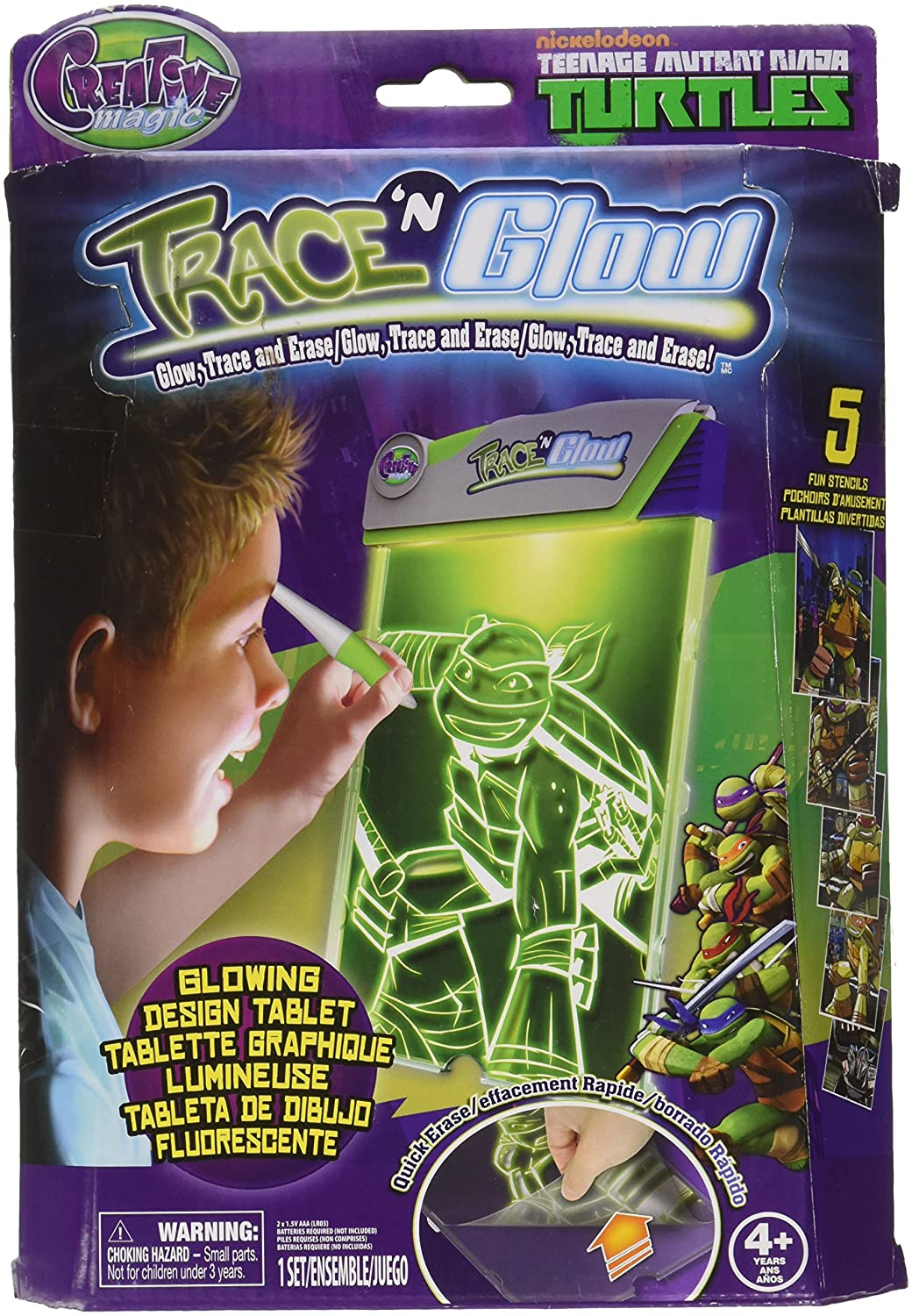 Amazon.com: Tech4Kids TMNT Trace N Glow Toy: Toys & Games