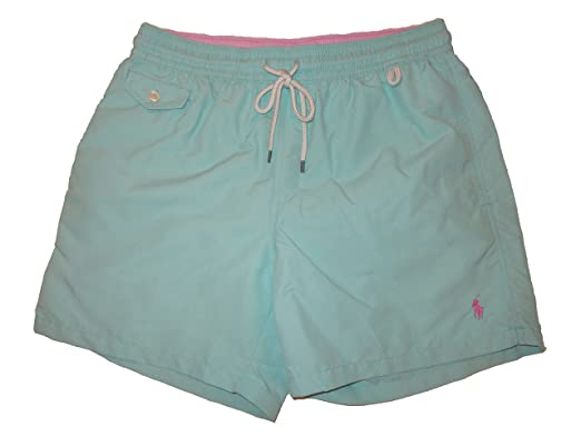 e76c2061b5c20 RALPH LAUREN Polo Mens Traveler 5 1/2 inch Swim Trunks (Sea Green ...