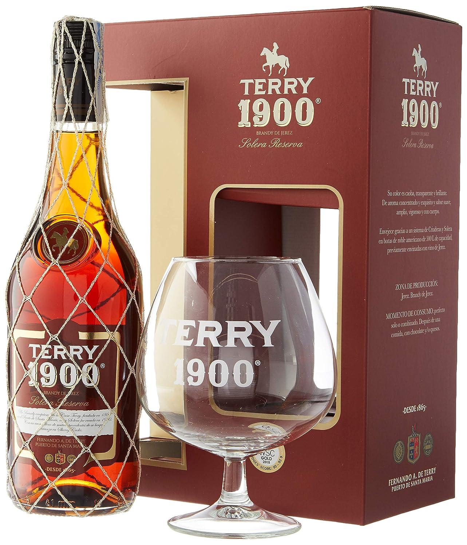 Terry 1900 – Solera Reserva – Brandy de Jerez 36º, 0.7 L con COPA