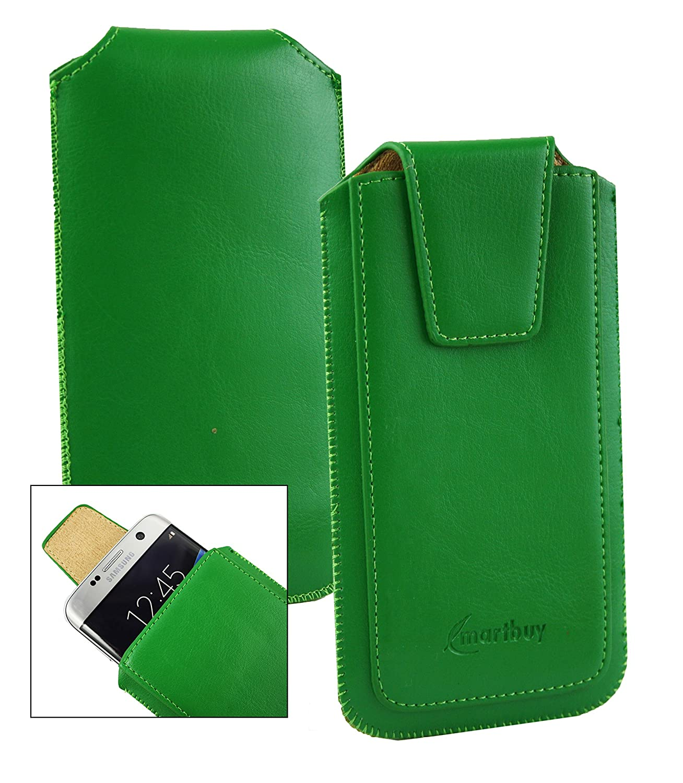 Emartbuy Sleek Serie Verde PU Cuero Funda Carcasa Case Tipo Bolsa ...