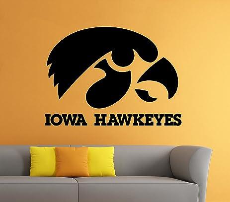 Amazon.com: Iowa Hawkeyes Wall Decal Vinyl Sticker NCAA College ...