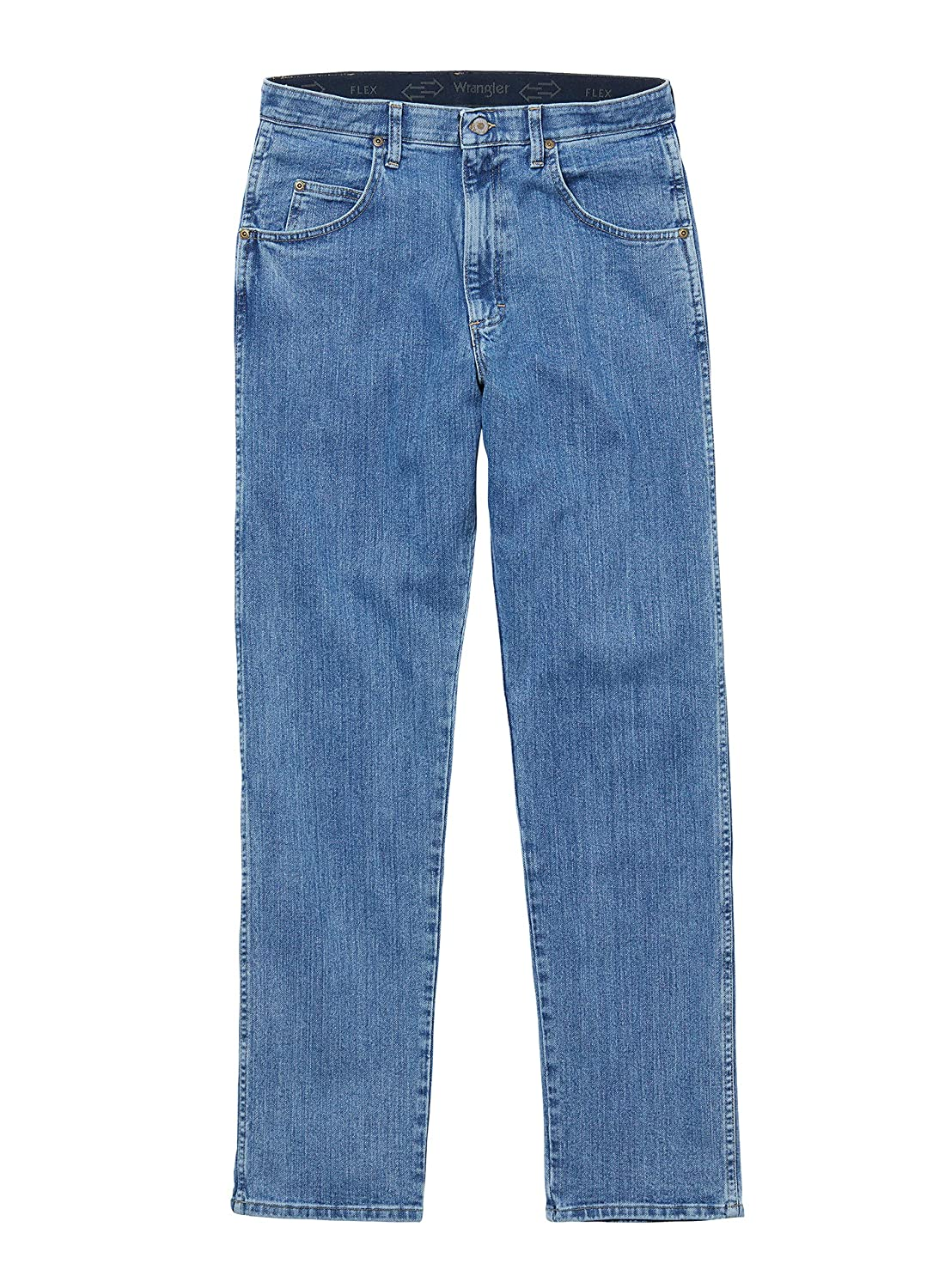 Light Stone Wrangler Mens Performance Series Relaxed Fit Jeans