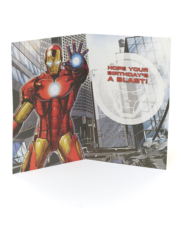 Amazon.com : Age 7 Birthday Card - Avengers Birthday Card ...