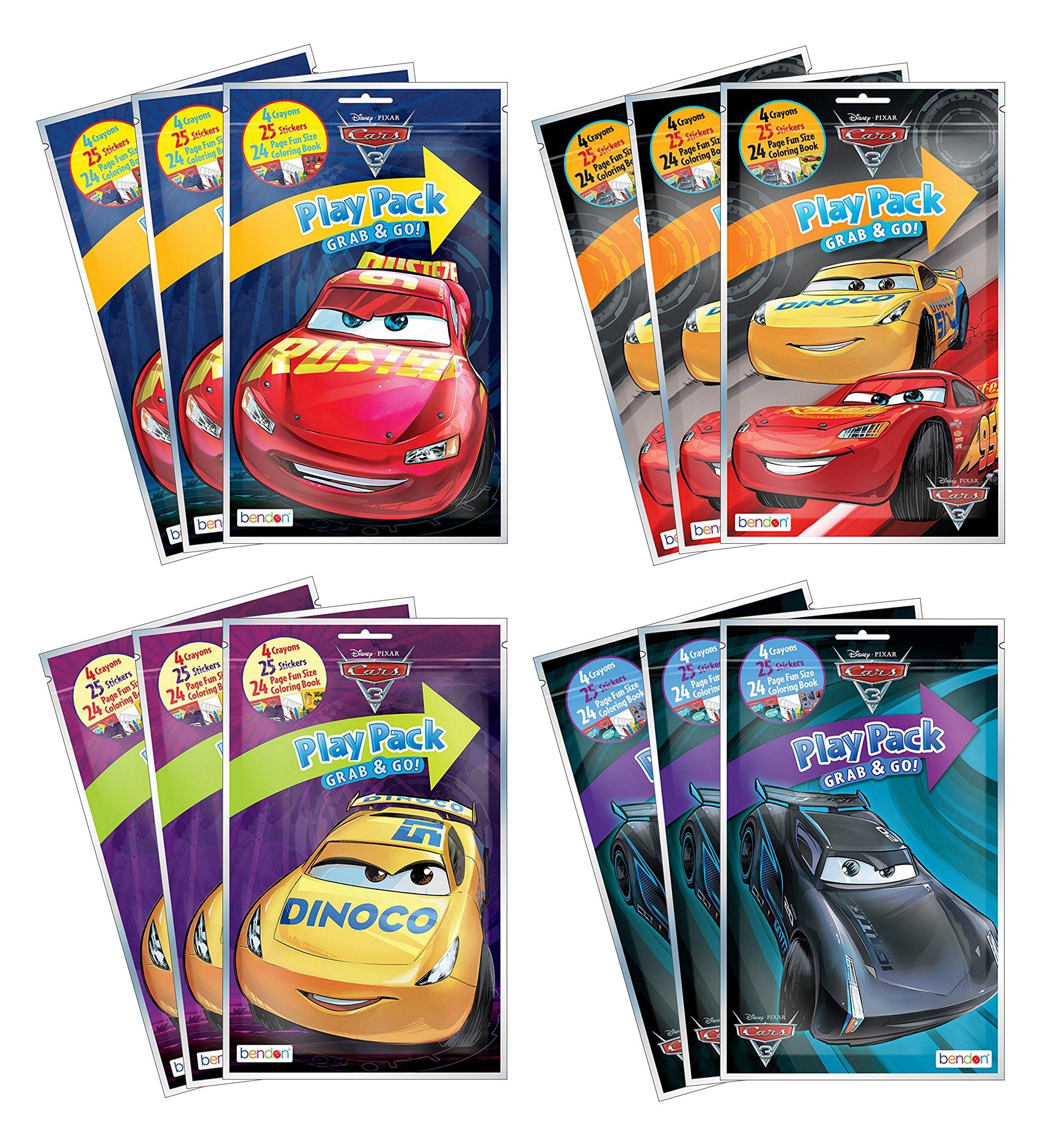Bundle of 12 Disney Pixar Cars 3 Grab and Go Play Packs