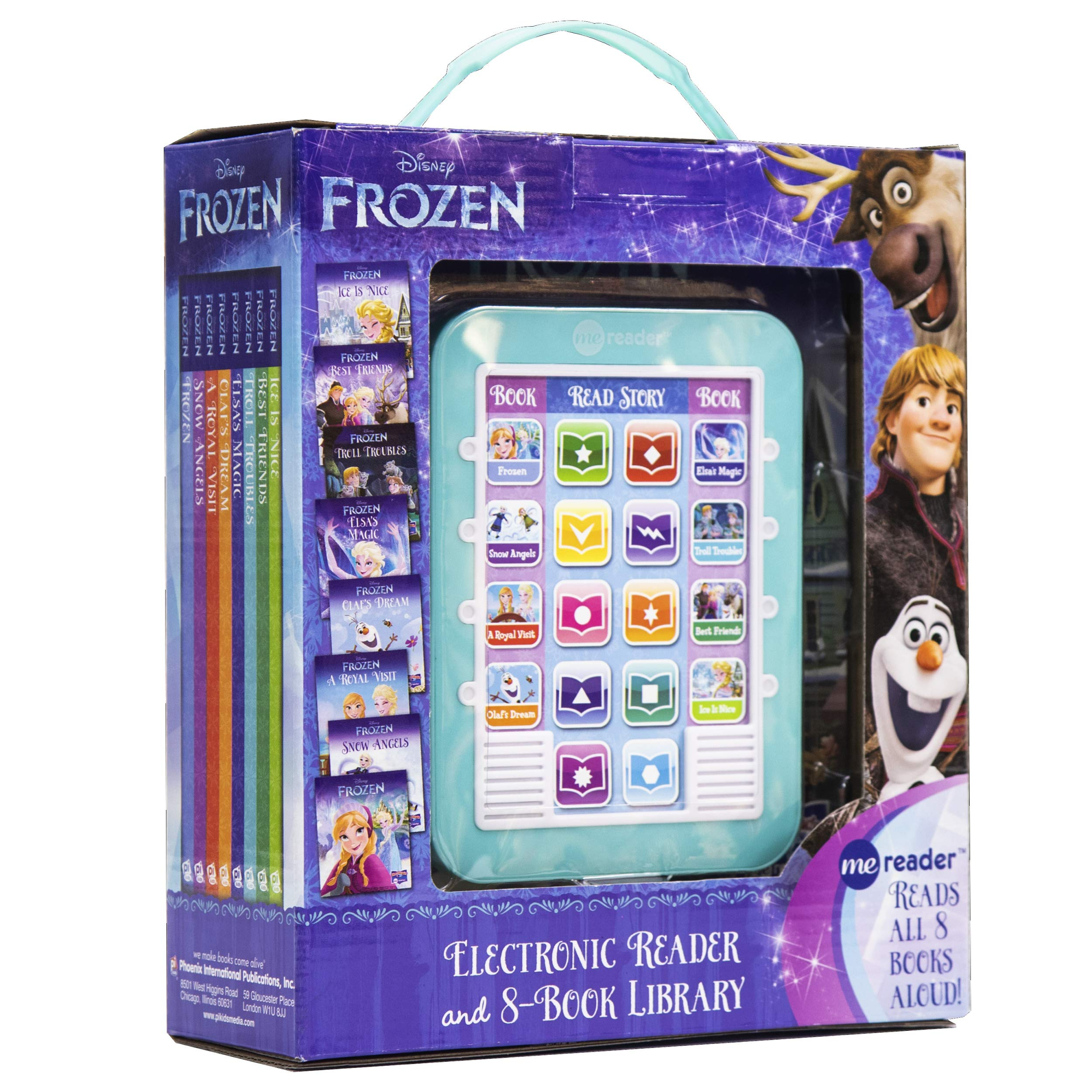 Disney Frozen Elsa, Anna, Olaf, and More! – Me Reader Electronic Reader and 8-Sound Book Library – Great Alternative to…