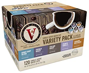 Victor Allen Coffee Variety Pack Cup Single Serve Cup, 120 Count (Compatible with 2.0 Keurig Brewers)