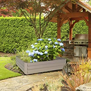 Leisurelife Metal Raised Garden Bed Planter Box Kits for Vegetables Outdoor, Gray, Steel, 4x2 ft