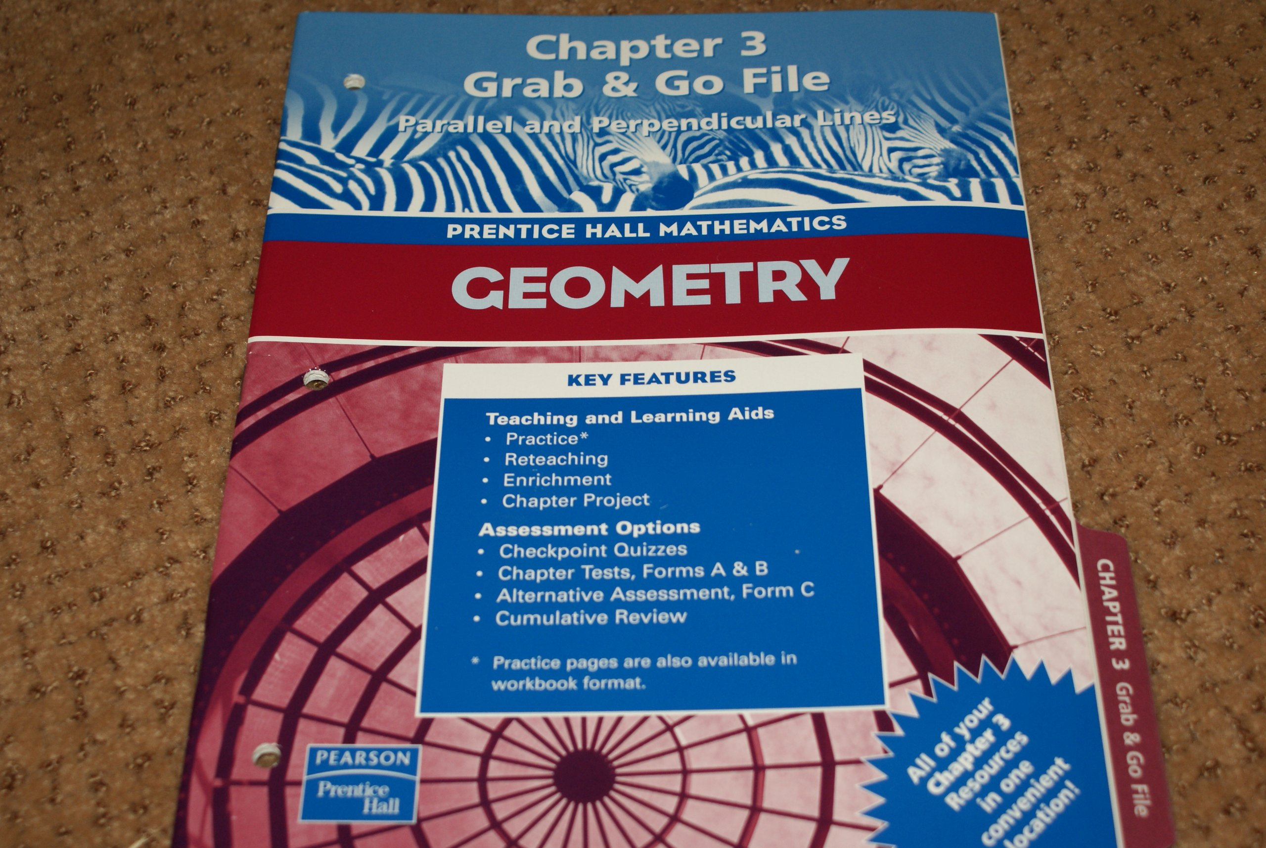 Prentice Hall Mathematics Geometry: grab & go file Chapter 3 Parallel and Perpendicular Lines 2005 ebook