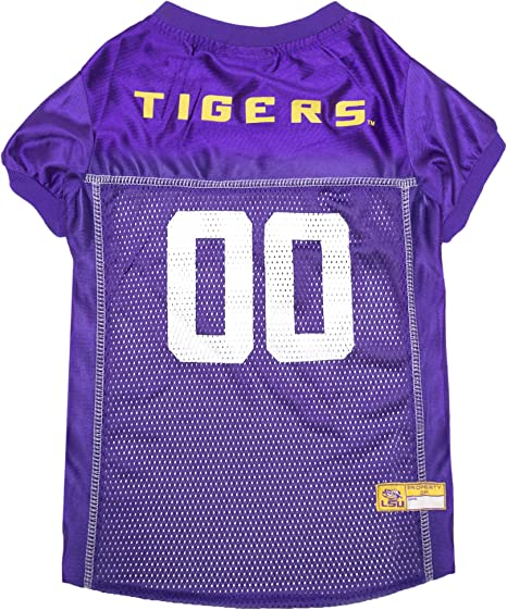Pets First NCAA PET Apparels - Basketball Jerseys, Football Jerseys for Dogs & Cats Available in 50 Collegiate Teams & 7 Sizes