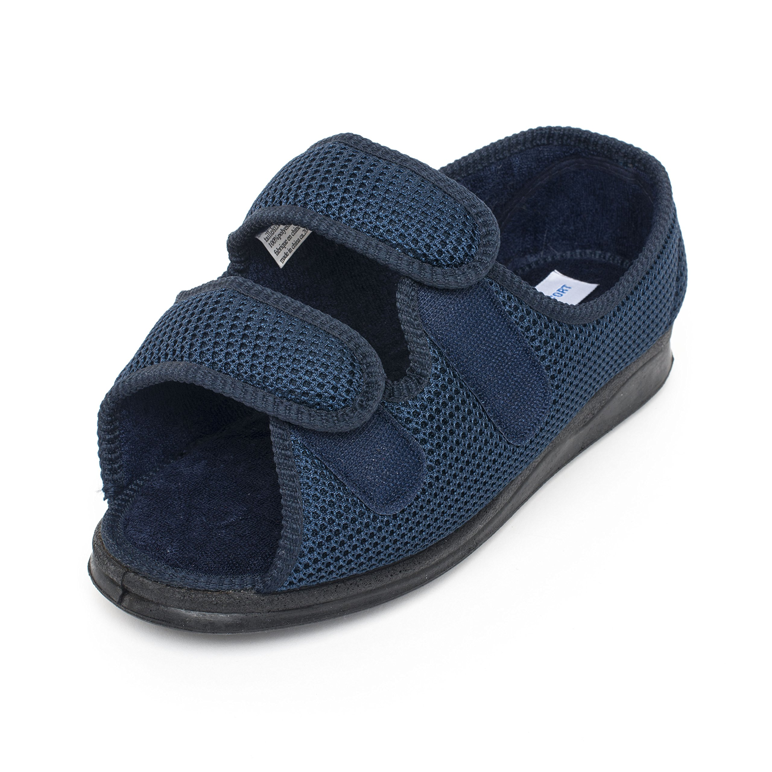 Creation Comfort Comfortable Sandals/Shoes Women and Men's Extra Wide Velcro Antimicrobial Adjustable Machine Washable (9) by Creation Comfort (Image #5)