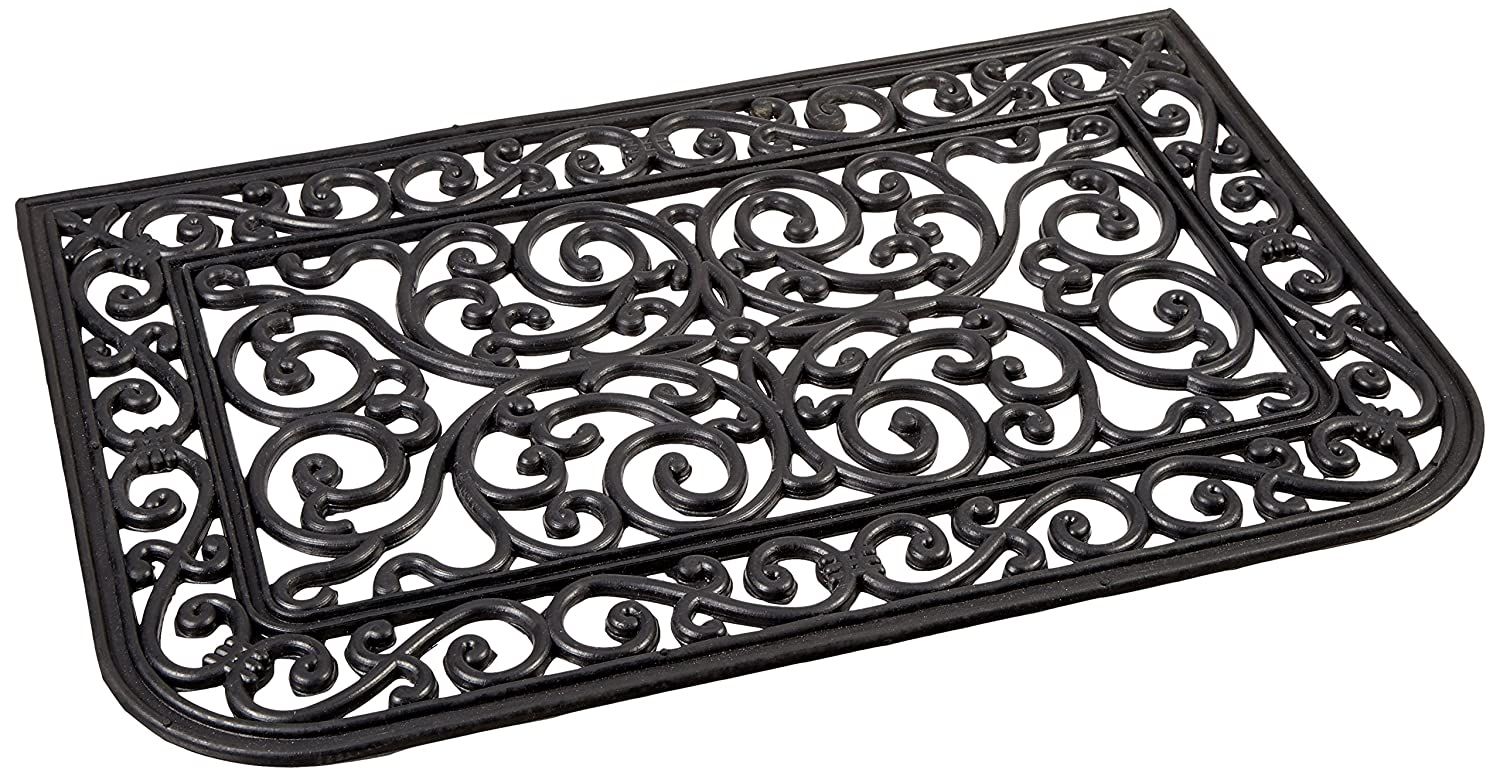 Rubber-CalLiverpool Outdoor Cast Iron Door Mat, 16 by 24-Inch 10-103-503