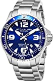 """Stuhrling Original Mens Swiss """"Limited Edition"""" Professional Dive Watch with Solid Stainless Steel Bracelet and Screw Down Crown"""