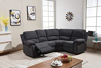 Sc Furniture Ltd Charcoal Grey High Grade Fabric Material Corner