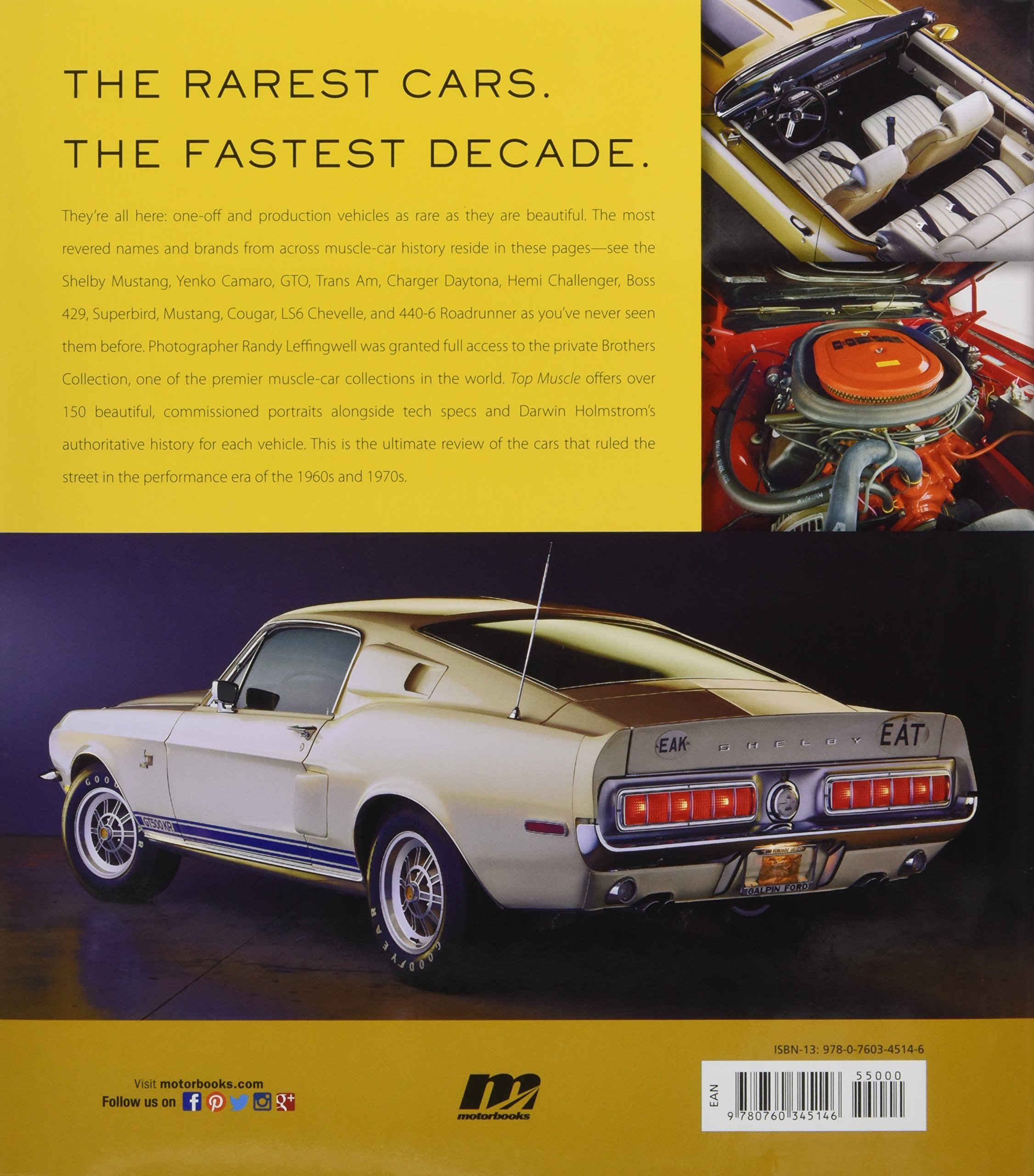top muscle the rarest cars from america s fastest decade darwin