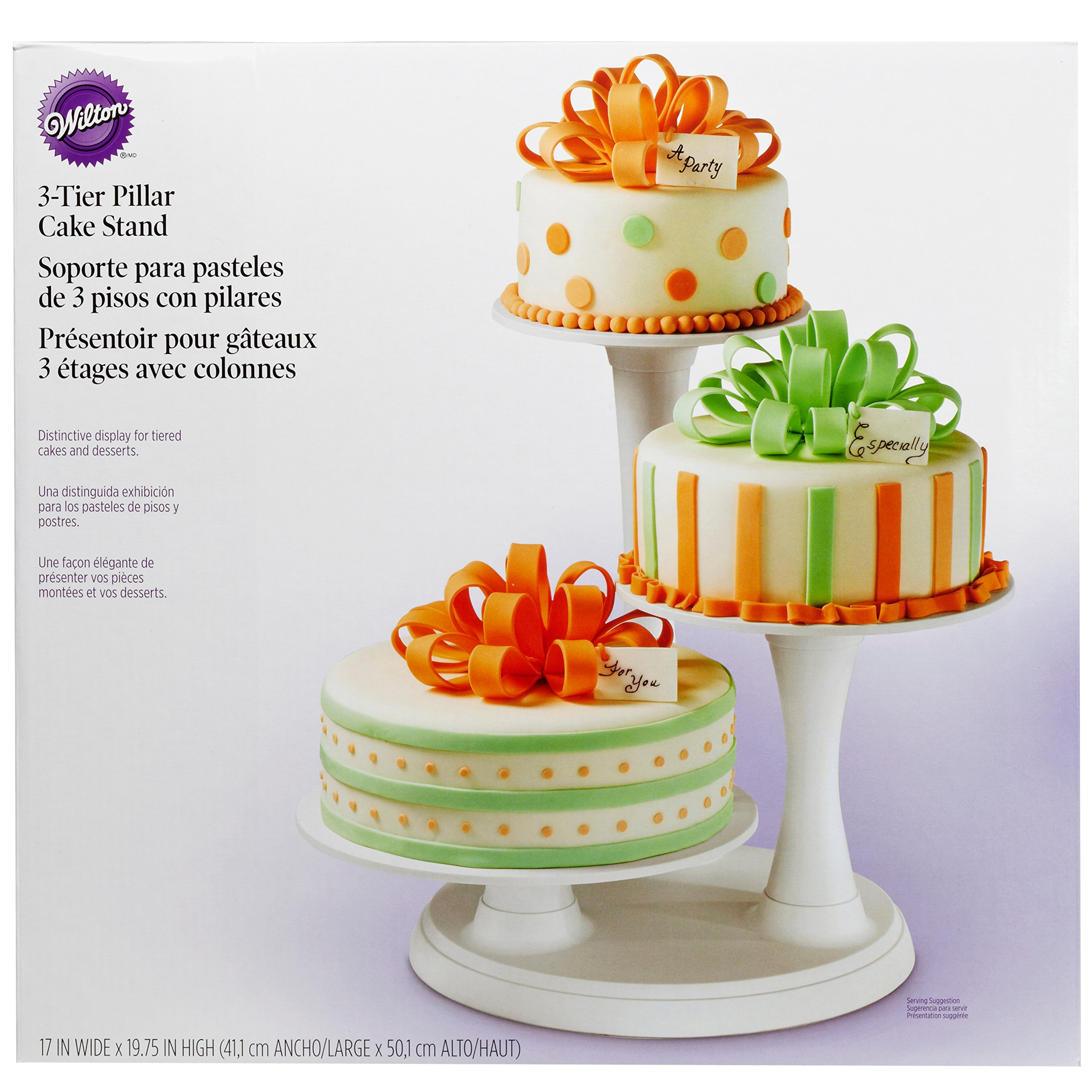 Wilton 3 Tier Pillar Style Cake And Dessert Stand Great For