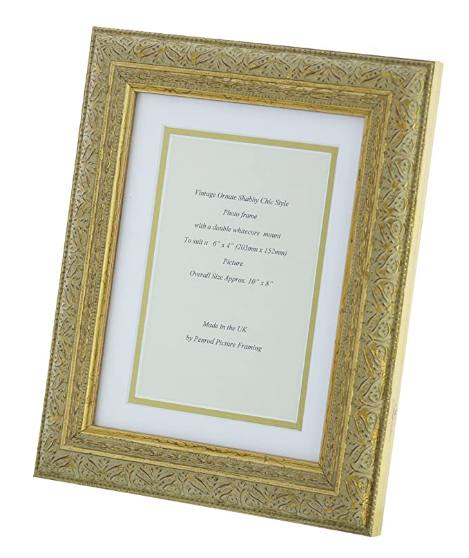 Antique Gold Shabby Chic Ornate Vintage Picture Frame 10\