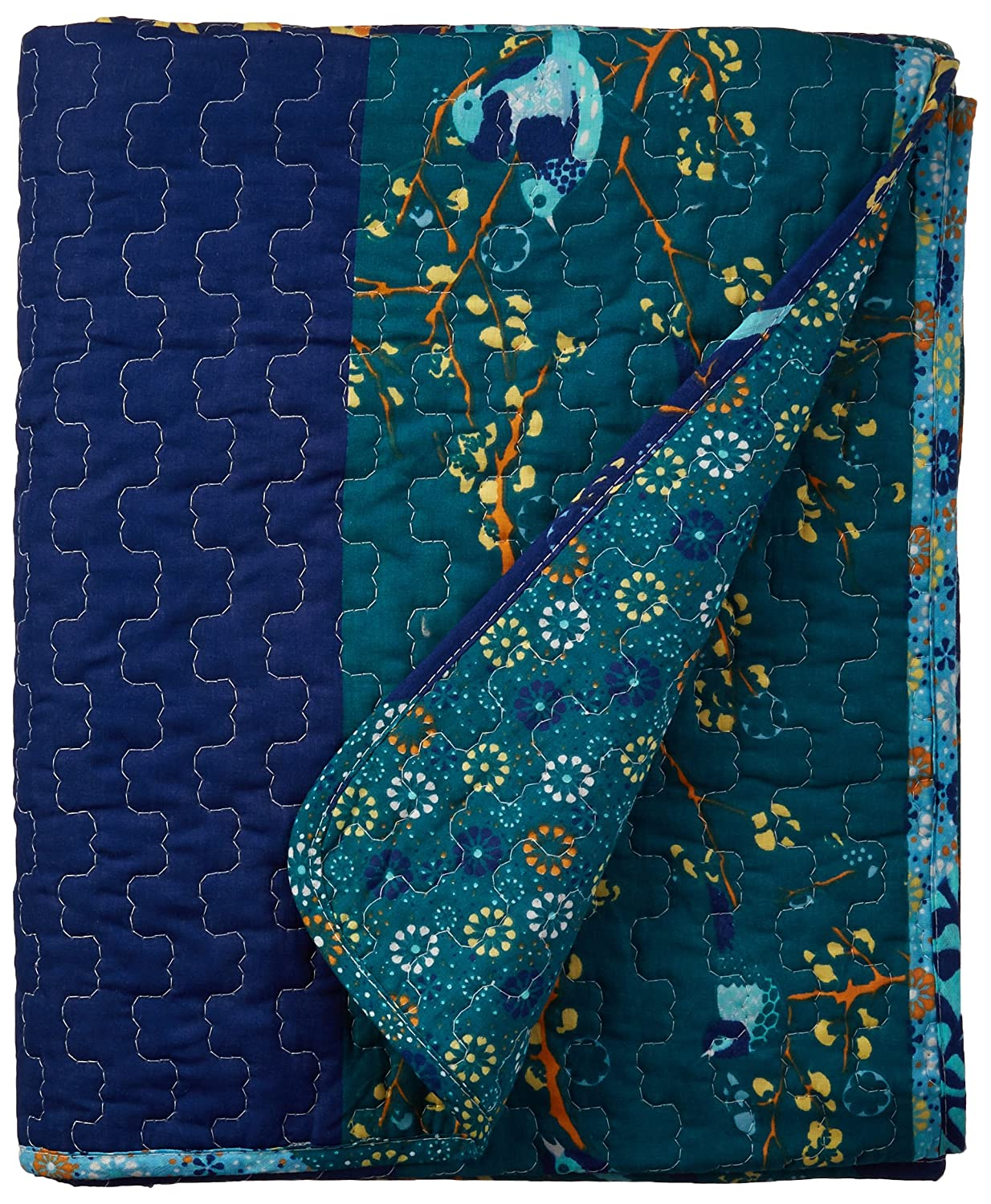 Lush Decor Royal Empire Throw, 60 by 50-Inch, Peacock
