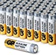 AAA Battery Value Pack by GP | High-Performance 1.5V AAA Alkaline Batteries (Box of 48)