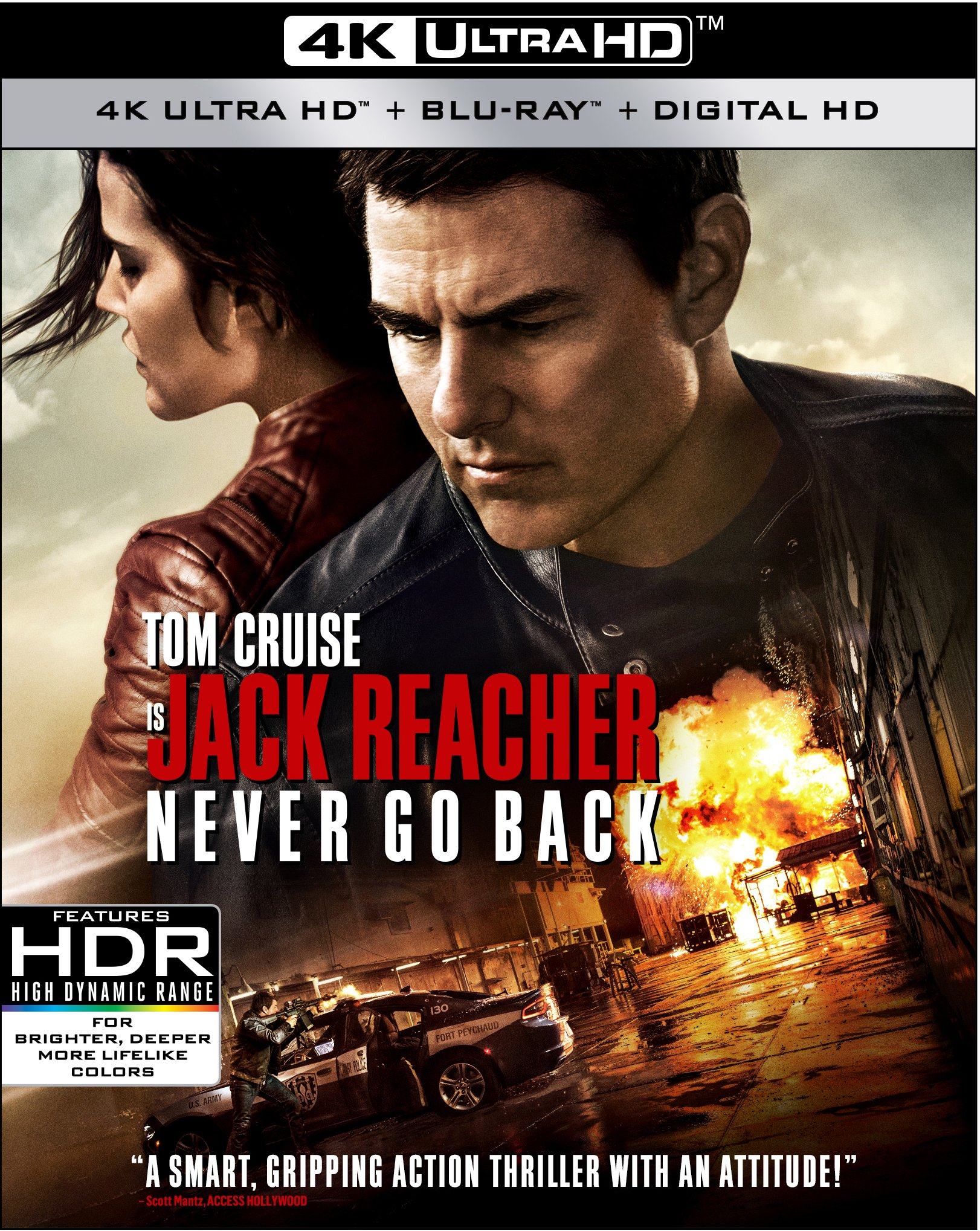4K Blu-ray : Jack Reacher: Never Go Back (With Blu-Ray, 4K Mastering, , Dubbed, Dolby)