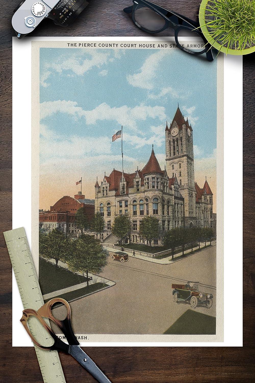 Amazon com: Tacoma, WA - View of Pierce County Court House (9x12 Art