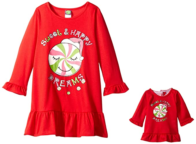Dollie   Me Girls  Big Long Sleeve Nightgown with Matching 18 Inch Doll  Outfit 5afd7cc17