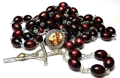 Amazon.com: Relic rosario tercera clase de San Sebastian ...