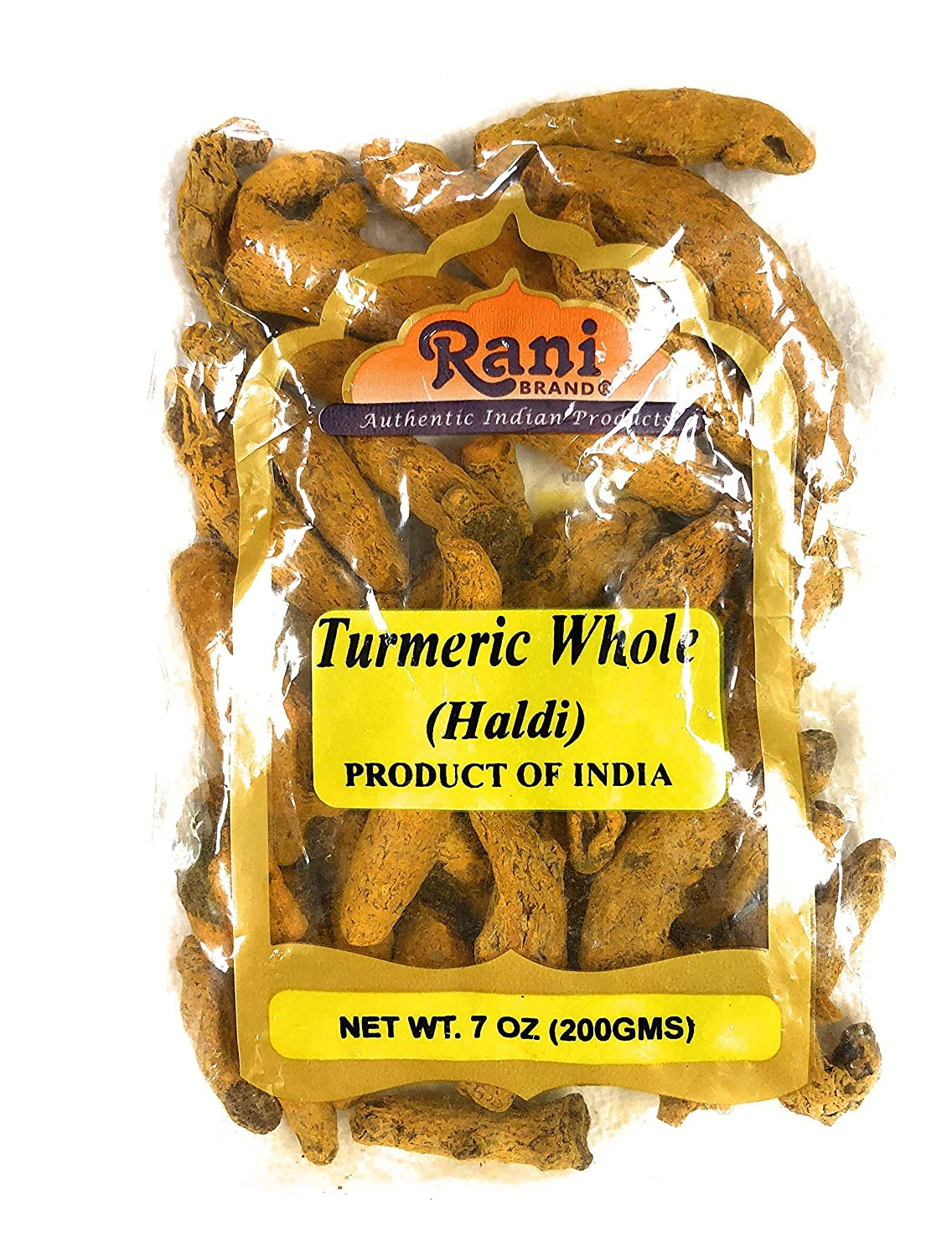 Rani Turmeric (Haldi) Root Whole Spice ~ Dried 200g (7oz) Vegan | Gluten Free Ingredients | NON-GMO | Indian Origin