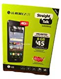 "Straight Talk LG Rebel 2 8GB 5"" Screen Prepaid Smartphone, Black"