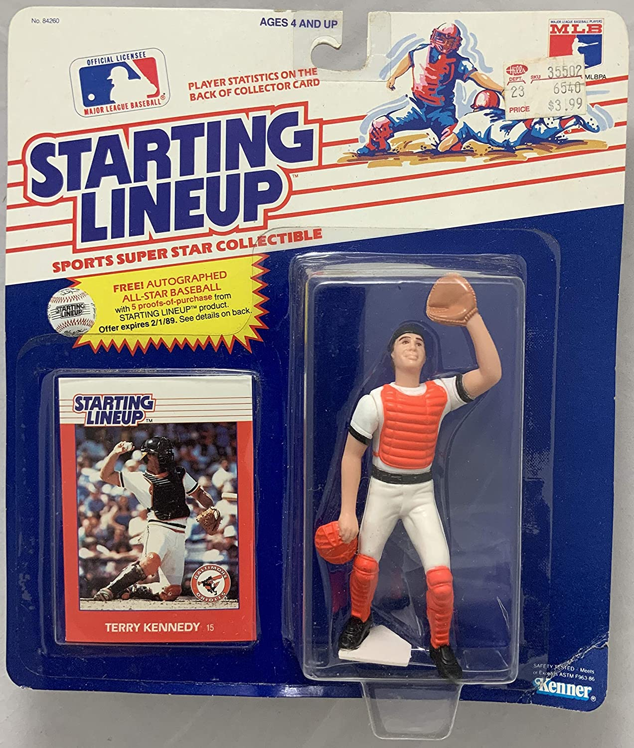 1988 KENNER STARTING LINEUP MLB TERRY KENNEDY BALTIMORE ORIOLES MOC