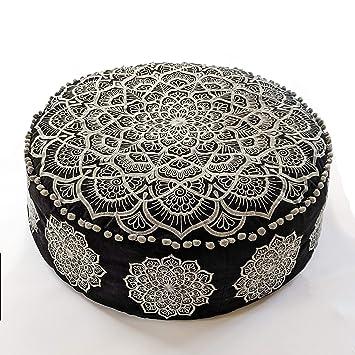 Amazon.com: Mandala Life ART - Puf otomano bohemio - Relleno ...