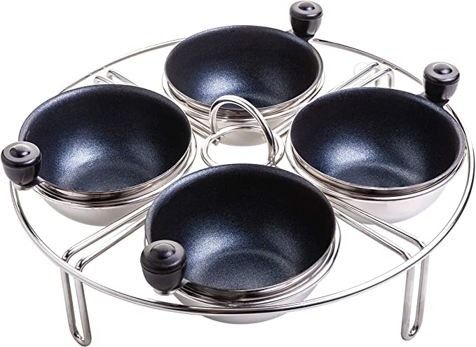 20cm Premium Quality Guaranteed Non-Stick Egg Poacher Pan All Hob Types Premier Cookware Professional Range